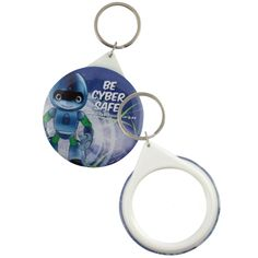Mirror button badge keyring - Product Size: x Branding Type: digital Material: rust free metal & plastic