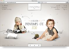photography and illustration in web design.    Mamy Factory by Stella Petkova, via Behance