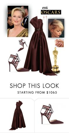"""red carpet"" by raina1060 ❤ liked on Polyvore featuring Sachin + Babi, Gianvito Rossi and Anne Sisteron"