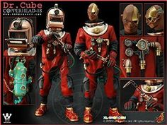 """HOT TOYS Hong Kong Toy Designer brothersfree Kenny Wong Kennyswork DR. CUBEIG COPPERHEAD 18 Red 1/6 Scale 12"""" Action Figure 1pc"""