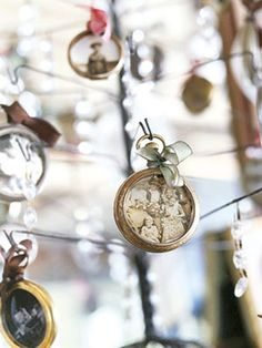 pocket watch ornaments, Country Living