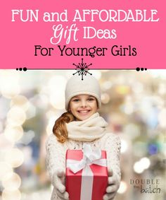 Shopping for a gift for an 8-10 year old girl? I've already done the leg-work for you. Check out this round-up of some fun and affordable gift ideas for 8-10 year-old girls.