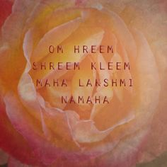 this is a mantra for abundance, prosperity, feminine power and to honor Lakshmi. OM is the auspicious sound used to begin many mantras. HREEM is a bija mantra that complements Shreem. As SHREEM works with our lunar aspects, Hreem works with the solar. these two bijas balance each other. KLEEM works with the energy of attraction, helps us to attract the qualities of Lakshmi to us. MAHA means great, and NAMAHA is a word used to denote an adoration of the subject of the mantra.