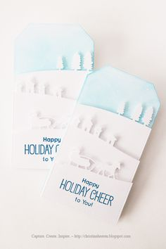 Winter Tags and Holiday Gift Bags ~ Capture. Create. Inspire.