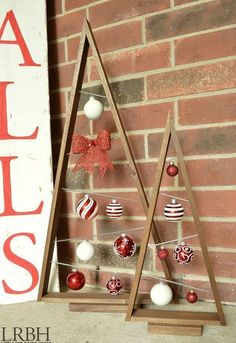 how to make a knock off crate barrel ornament trees, christmas decorations, crafts, how to, seasonal holiday decor