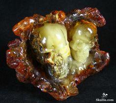 Baltic Amber Crystal Skulls