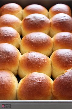 This copycat recipe for Homemade Hawaiian Bread Rolls is surprisingly easy and makes perfectly sweet, soft, fluffy, and golden brown rolls. Get my FREE Bread. Hawaiian Bread Rolls, Hawaiian Sweet Rolls, Bread Machine Recipes, Bread Recipes, Baking Recipes, Homemade Bread Bowls, Dinner Rolls Recipe, Bread Bun, Yeast Bread