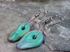 Artisan Made Turquoise Drop Lampwork Beads by PattiVanderbloemen, $22.00