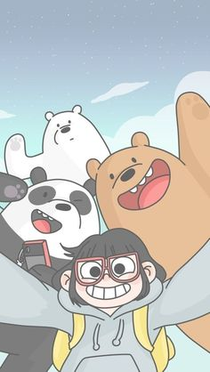 Colección de fondos de pantalla Escandalosos Kawaii Polar, Panda y Pardo para c. Cartoon Wallpaper Iphone, Bear Wallpaper, Cute Disney Wallpaper, Kawaii Wallpaper, Cute Wallpaper Backgrounds, Aesthetic Iphone Wallpaper, We Bare Bears Wallpapers, Panda Wallpapers, Cute Cartoon Wallpapers