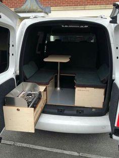 Camper Van Conversion for Beginner - The Urban Interior Truck Bed Camper, Mini Camper, Camper Life, Auto Camping, Volkswagen Caddy, Vw Touran, Homemade Camper Van, Caddy Van, Minivan Camper Conversion