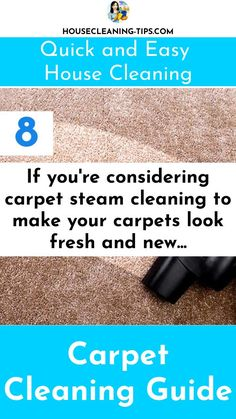 The Carpet Cleaning Guide: Discover What It Takes To Keep Your Carpet Looking Good #carpetcleaning #carpetcleaningtips #vacuumcleaners Steam Clean Carpet, How To Clean Carpet, Steam Cleaning, Cleaning Hacks, Clean House, Make It Yourself, How To Make, Interior, Indoor
