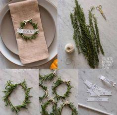 Natale: 10 idee green per apparecchiare la tavola.