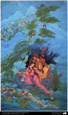 "Masterpieces of Persian Miniature ""Caravan of Age""- Artist M. Honarkar- 2001 شاهکار مینیاتور ایرانی - اثر استاد هنرکار - 2001 - کاروان سن"