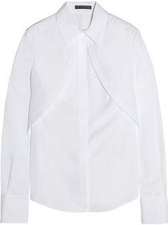 Alexander McQueen Cotton-poplin shirt on shopstyle.co.uk