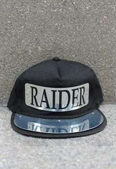 a39244cb4d9 vtg Chrome Plated LA Los Angeles Raiders Oakland snapback La Los Angeles