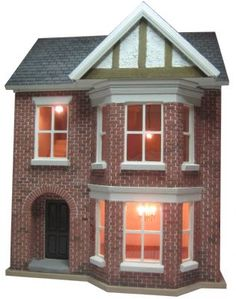This is a Bay View Victorian style dolls house which has been built and decorated by hand.  Features include:      Decorated exterior and interior     Lighting fitted in main rooms including attractive chandeliers.     Real hardwood floorboards on all 3 floors     Realistic brickwork including detailed arch around entrance porch. Realistic tiled roof      Decorated exterior and ...