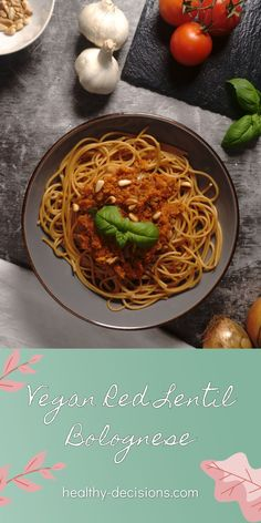 Bolognese in vegan? That surely takes hours or does not taste at all. With these prejudices will be cleared up today, because vegan bolognese can taste actually really good and does not have to take hours of preparation at all. My vegan red lentil bolognese is completely without tofu and tastes extremely delicious. Come and see for yourselves! #bolognese #veganbolognese #redlentilbolognese Dairy Free Recipes Healthy, Egg Free Recipes, Tofu Recipes, Lentil Bolognese, Clean Eating Diet, Lentils, Main Dishes, Ethnic Recipes, Food