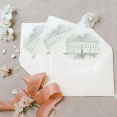 @carissimopress posted to Instagram: Envelope liners add some extra detailing to your wedding suite - what do you think about this soft, watercolour painting to wow your guests? photography: @melanienedelko creative direction and design: @fine.moments floral design and decor: @hanaholdener stationery and decor: @carissimo_letterpress location: palazzo carissimo dress: @daalarnacouture shoes: @bellabelleshoes jewellery: private ceramic tableware: @bonadeaofficial glassware: @baccarat m