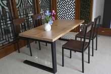 Ferro do vintage de madeira mesa de jantar mesa de madeira mesa de café combinação pequena sala de jantar de tamanho sala mesa de café(China (Mainland))