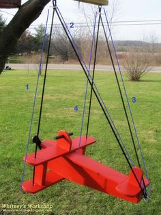 Ana White Build a Child's Airplane Swing Free and Easy DIY Project and Furniture Plans Diy Wood Projects, Diy Projects To Try, Wood Crafts, Diy Crafts, Woodworking Furniture Plans, Woodworking Projects, Woodworking Equipment, Woodworking Machinery, Diy Simple