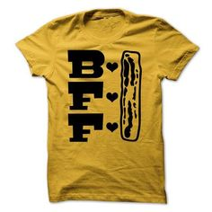 Bacon Best Friend Forever BFF T Shirts, Hoodies Sweatshirts. Check price ==► http://store.customtshirts.xyz/go.php?u=https://www.sunfrog.com/Funny/Bacon-Best-Friend-Forever-Tshirt.html?41382