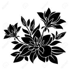 28904680-black-silhouette-of-flowers-vector-illustration-Stock-Vector.jpg (1300×1300)