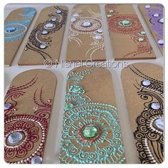 Close up #nishel #bookmarks now up for grabs. They make an ideal #gift for any #occasion. With your choice of #colours and #design with an option to #personalise with a name, message or quote. From £5.00... #henna #hennaart #hennachains #hennadesign #mehndi #mehndidesign #books #reading #decor #hennabookmarks