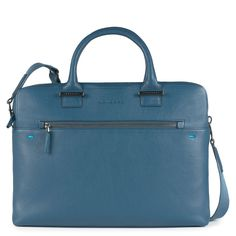 Piquadro Pike Kurzgrifflaptoptasche mit iPad® -Fach stahlblau
