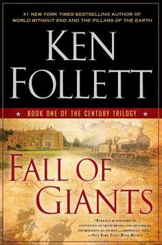 Fall of Giants, by Ken Follett, I got swept up in this WWI era epic. I like living history through Follett's imagination.