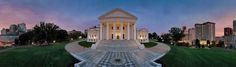 Thomas Schiff: Virginia 360°   On view through March 12, 2017. William King Museum of Art, Abingdon, Virginia www.williamkingmuseum.org  An exhibition of 40 panoramic photographs of well-known sites across Virginia on loan from the Virginia Museum of Fine Arts.  Photo Credit: Thomas R. Schiff American, Born 1947. Virginia State Capitol, Richmond, 2010. Chromogenic print. Collection of the artist.