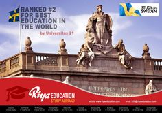 Sweden ranked No.2 for best education in the world. It is undoubtedly the best place for overseas education for every student who dream of abroad education. A prospective student who approaches Riya Education besides being in the hands of a reliable counselor to select the right academic program is also assisted for in house services like Visa, Air tickets, Insurance, Global SIM cards, Foreign exchange, Meet and Assist thereby making us a One Stop Solution!