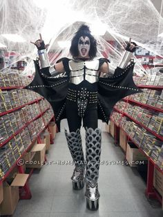 Awesome Demon from KISS Gene Simmons Halloween Costumes ... Homemade Costume Contest