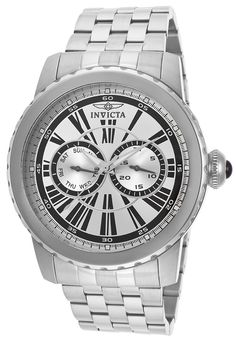 Invicta Men's Specialty Silver Dial Stainless Steel - Watch 14586,    #Invicta,    #14586,    #WatchesCasualQuartz