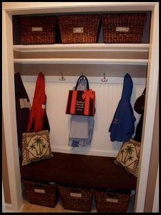 "Coat Closet to Mud area (I hesistate to call it ""room""!)"
