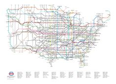 U.S. Routes as a Subway Map which I'd really like to have someday with the companion Interstate map.