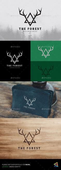The Forest Logo  #mountain #deer #triangle • Download ➝ graphicriver.net/...