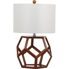 Maybe change the color of the base!?  Strongly graphic, the warm brown wood base of the Delaney table lamp recalls the hexagonal pattern of a honeycomb.