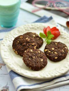 Chocolate coconut oat cookies