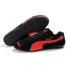 5ecb93887e8 Puma Suede Women Black Red