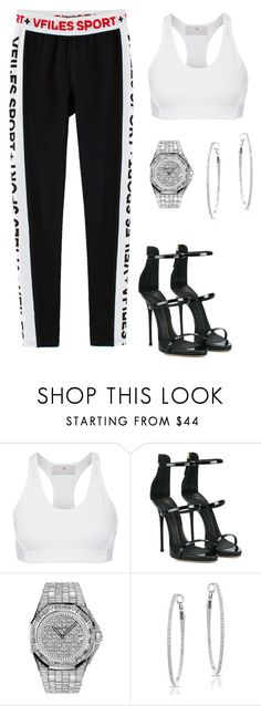 """""""Untitled #4658"""" by teastylef ❤ liked on Polyvore featuring Yves Saint Laurent, adidas, Giuseppe Zanotti, Audemars Piguet and Anne Sisteron"""