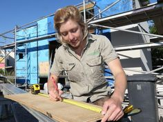Tricks of the trade ... Lara Nobel says girls should not be intimidated about being in the construction industry. Picture: Annette Dew