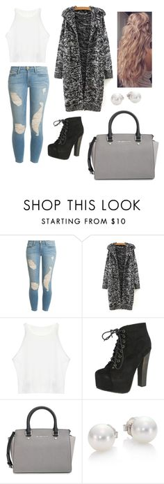 """Popular November look"" by elizabethnutt ❤ liked on Polyvore featuring Frame Denim, Breckelle's, MICHAEL Michael Kors, Mikimoto, women's clothing, women, female, woman, misses and juniors"