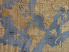 Moda passport world map globe multi tan tonal 3 sisters fabric bty wi90 theory of aviation wright bros world map navigation cotton quilt fabric gumiabroncs Images