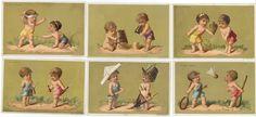 CHROMOS BON MARCHÉ - 1880/1885 - JEUX D'ENFANTS. Série complète des 6 chromos 122[...]   Auction.fr