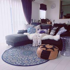 IKEA/ミカヅキモモコ/ペンドルトン風/フランフランの膝掛け/モロッカン…などのインテリア実例 - 2016-10-12 11:18:43 | RoomClip(ルームクリップ)