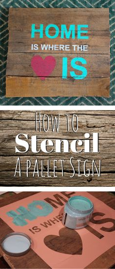 DIY How to stencil a pallet sign with a vinyl stencil plus a free silhouette cut design file and 19 other home decor crafts.