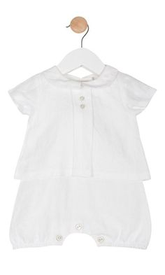 Stunning Baby Boy Girl Linen Outfit Romper Suit Romany Spanish Style by Mintini