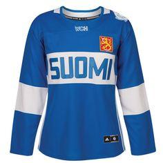 Finland SUOMI adidas Blue 2016 World Cup of Hockey Premier Women s Jersey 499869dcd