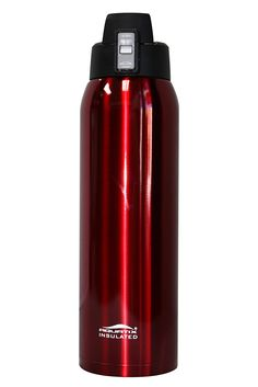 Aquatix Crimson Red Insulated FlipTop Ultimate Sport Bottle 21 ounce Pure Stainless Steel -- This is an Amazon Affiliate link. Read more at the image link.