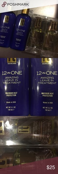 Hair care bundle 2 12-one leave in treatments and 2 shine drops.. All new never used Accessories Hair Accessories